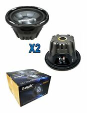 "2x 10"" Pro Audio Sub woofer Dual voice coil 4 ohm 2000W Logic Sound Lab FSW100"