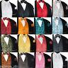 NEW Men's PAISLEY Design Dress Vest and Bow Tie & Hankie Set For Suit or Tuxedo