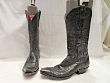 MEN'S BOOT STAR BY OLD GRINGO BLACK COWBOY BOOTS UK 7.5 NARROW FIT (2017)