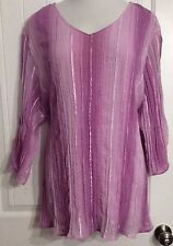 Gorgeous Maggie Barnes ladies top size 4X Purple Sequins Lined Beautiful!  NWOT