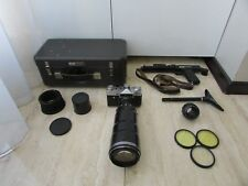 Soviet Zenit ET Photosniper 35mm Film Camera TAIR-3 + HELIOS 44-2 lens FULL KIT