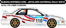 DECALS 1/43 SUBARU IMPREZA WRC - #110 - COPE - JIM CLARK RALLY 2013 - MFZ D43260