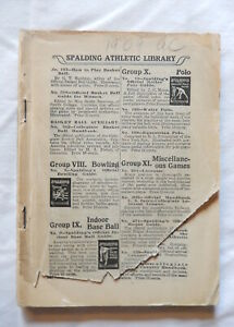 1909 Spalding Athletics Almanac 1908 Olympic Track Field Athletisme Leichtathlet