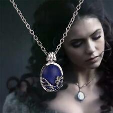 Vampire Diaries Elena Gilbert Blue Stone Elegant Locket Pendant Necklace U.K
