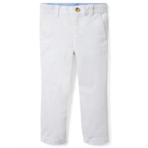 NEW Boys Janie and Jack White Stretch Twill Pant Adjustable Waist Straight Leg 4