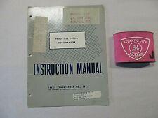 Freed Transformer Company Type 1020 B Megohmmeter Instruction Manual