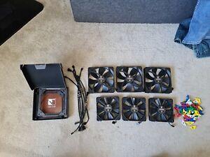 Noctua 140mm 120mm Pc Fans x6 and 2x mounts