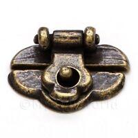 Miniatura Para Casa De Muñecas 1:12 Escala Latón Antiguo Baúl LOCK