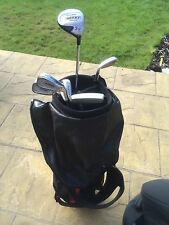 Part Set of Golf Clubs incl. Bag, Travel Bag Balls Glove Tees Etc Hardly Used
