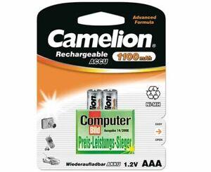 2 x Camelion Akkus Micro AAA 1100mAh für Siemens Gigaset A220 A600 A415A A510