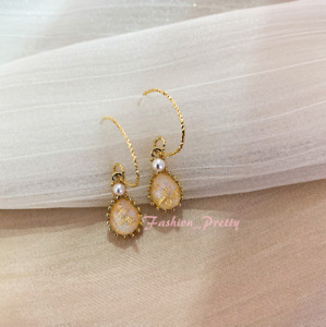 New Arrived!! Pretty Vintage Pearl & Synthetic Stone Drop Earrings -- (Hot Sale)