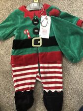 Mothercare Velour Baby Christmas Elf Outfit Dress New Born New Baby