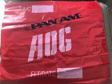 "Pan Am Airlines AOG Red Plastic Bag 27x 23"" NOS Vintage"