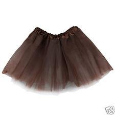 Kids Dance Costume Girl's Tutu Skirt Ballet Dress Wear - Coffee Brown