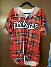 Rare Eugene Emeralds Portlandia Baseball Jersey Chicago Cubs Flannel size 44 #32