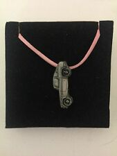 Honda S800 Coupe ref98 Pewter Effect Car on a Pink Cord Necklace Handmade 41CM