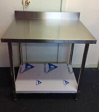 New Stainless Steel Kitchen Bench with splash back 600x600x900