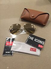 AUTHENTIC RAYBAN AVIATOR RB3025 WIDTH 62 GOLD FRAME NEW W/OUT TAGS
