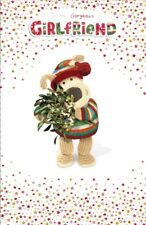 Boofle Girlfriend Embellished Christmas Greeting Card Foiled Xmas Cards