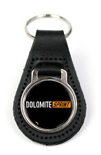 Triumph Dolomite Sprint Logo Quality Black Leather Keyring