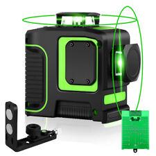 Seesii 8 Lines Laser Level Green Beam Laser Level USB Charging +2200mah Battery