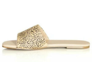 CITY CHIC- NEW Vera Slide Animal Print Sandals/Size 39/8.5/RRP $69.95/Wide Fit