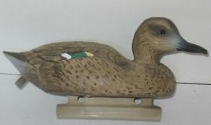 "Vintage Flambeau 10"" Green Wing Teal Duck Decoy Sport Plastic Cabin Lodge Hunt"