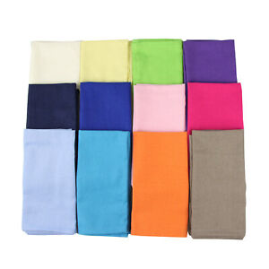 Soft Solid Color Linen Cotton Dinner Cloth Napkins - Set of 12 (40 x 40 cm)