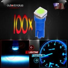 100X Blue T5 74 70 58 5050 SMD Wedge Car Instrument Gauge Light White LED Bulbs