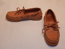LL Bean Camp Moccasins, Handsewn Moc Boat Deck Shoes sz 6 M lknw EUC