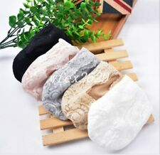 2018 Lace Socks Women No Show Liner Low Cut Feet Boat Hidden Non-Slip 5 Pairs US