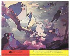 WALT DISNEY BAMBI 1976 ORIGINAL BRITISH FRONT OF HOUSE LOBBY CARD BIRDS
