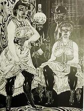 Franz Theodor SCHÜTT (1908-1990) -  * Szene im Bordell * (1967)  Heliogravure