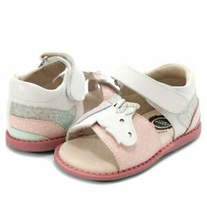 NIB LIVIE & LUCA Shoes Sandals Unicorn White Pink Silver 7 8 9 10 11 12 13