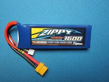 ZIPPY 1600MAH 2S 7.4V 20C 30C LIPO BATTERY XT60 CAR TRUCK BOAT PLANE HELI QUAD