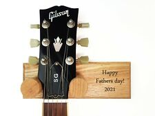 More details for solid ash guitar hanger, personalised. engrave your own message! free p&p!