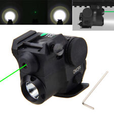 1MW Green Dot Laser Sight Pointer Q5 LED Flashlight 20mm Rail For Gun Pistol New