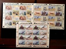 1993 Endangered Species MNH sheets from UN NY< Vienna, and Geneva