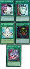 5-Card set: Pot of Greed_Pot of Duality _ Dichotomy_ Benevolence, Avarice YUGIOH