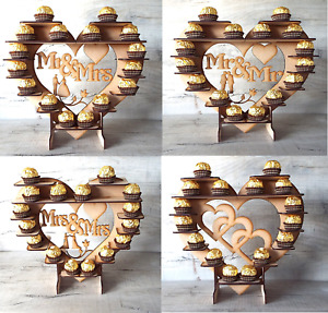 Ferrero Rocher Heart Tree Wedding Display Stand Centrepiece party flat pack