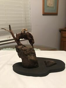 """RICK CAIN SCULPTURES """"Eagle cave"""" LIMITED EDITION 104/1000"""
