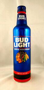 2021 Bud Light - NHL - Chicago Blackhawks - Aluminum Beer Bottle #503731