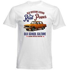 Vintage ruso Moskvich 2140 Coche Nuevo Algodón Camiseta -