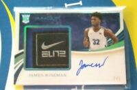*20 Immaculate James Wiseman Rookie Nike Laundry Tag Patch Autograph #/5 RC SSP*