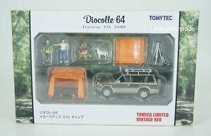 Tomytec Diocolle 64 #Carsnap 01b Camp Mitsubishi Pajero Super Exceed Z Playset