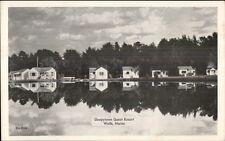 Wells ME Sleepytown Cabins Postcard #2