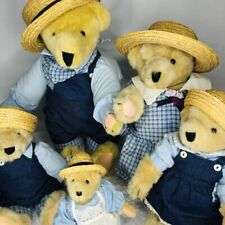 Vintage Vanderbear Family A Day in The Country 5 Piece Set Tags Muffy Mom Dad +