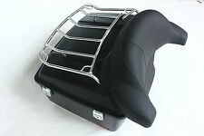 ABS Large Motorcycle King Tour Pack with Large Wrap Around Backrest and Top Rack