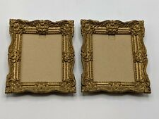 Vintage Burwood Products Plastic Frames Gold Colored Ornate Made in USA
