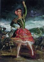 """perfact 24x36 oil painting handpainted on canvas """"A Dancing Girl""""@NO3627"""